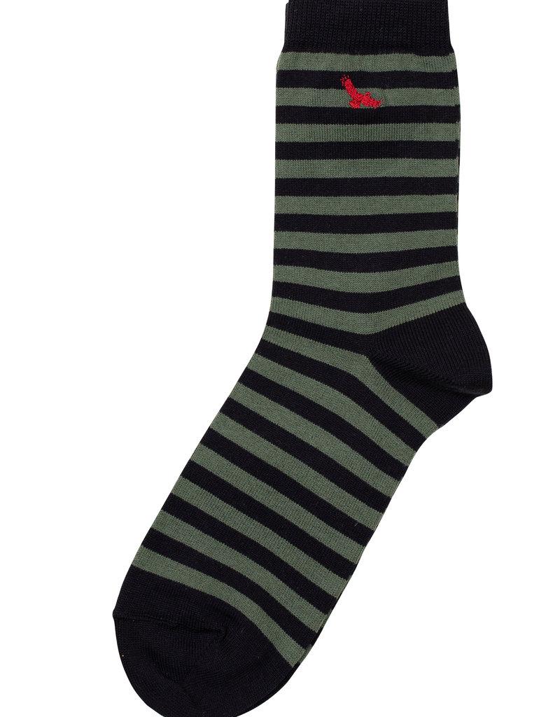 Condor Condor Striped Sock with Embroidered Condor