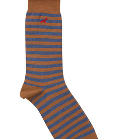 Condor Condor Mens Striped Sock with Embroidered Condor