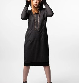 Havah Tribe Havah Tribe Speckled Grey Sweatshirt Dress
