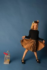 Mocha Noir Mocha Noir 3 Tone Multi Panels Leopard Skirt