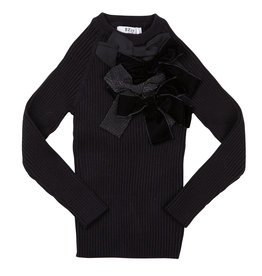 BZZY BZZY Ribbed Top with Bows