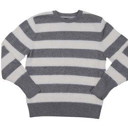 BZZY BZZY Fur/Knit Stripe Sweater