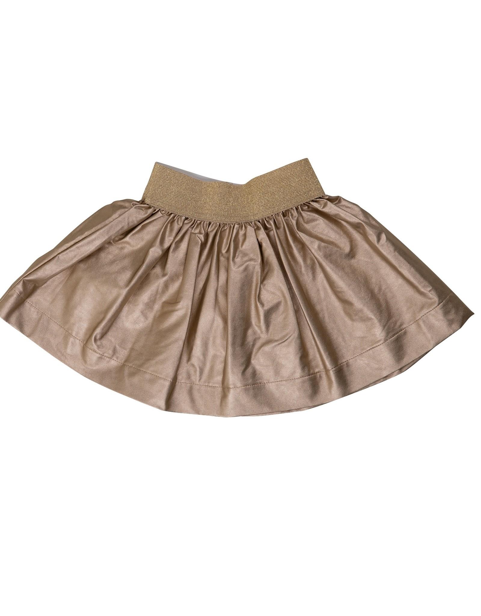 Big A Little a Big A Little a Metallic Faux Leather Skirt