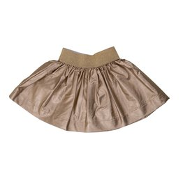 Big A Little a Big A Little a Metallic Faux Leather Skirt