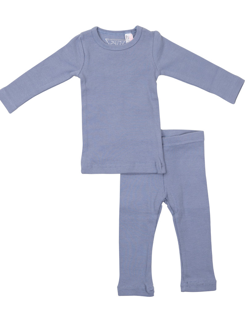 24/7 24/7 Ribbed Baby Two Piece Set (Top/Pants)