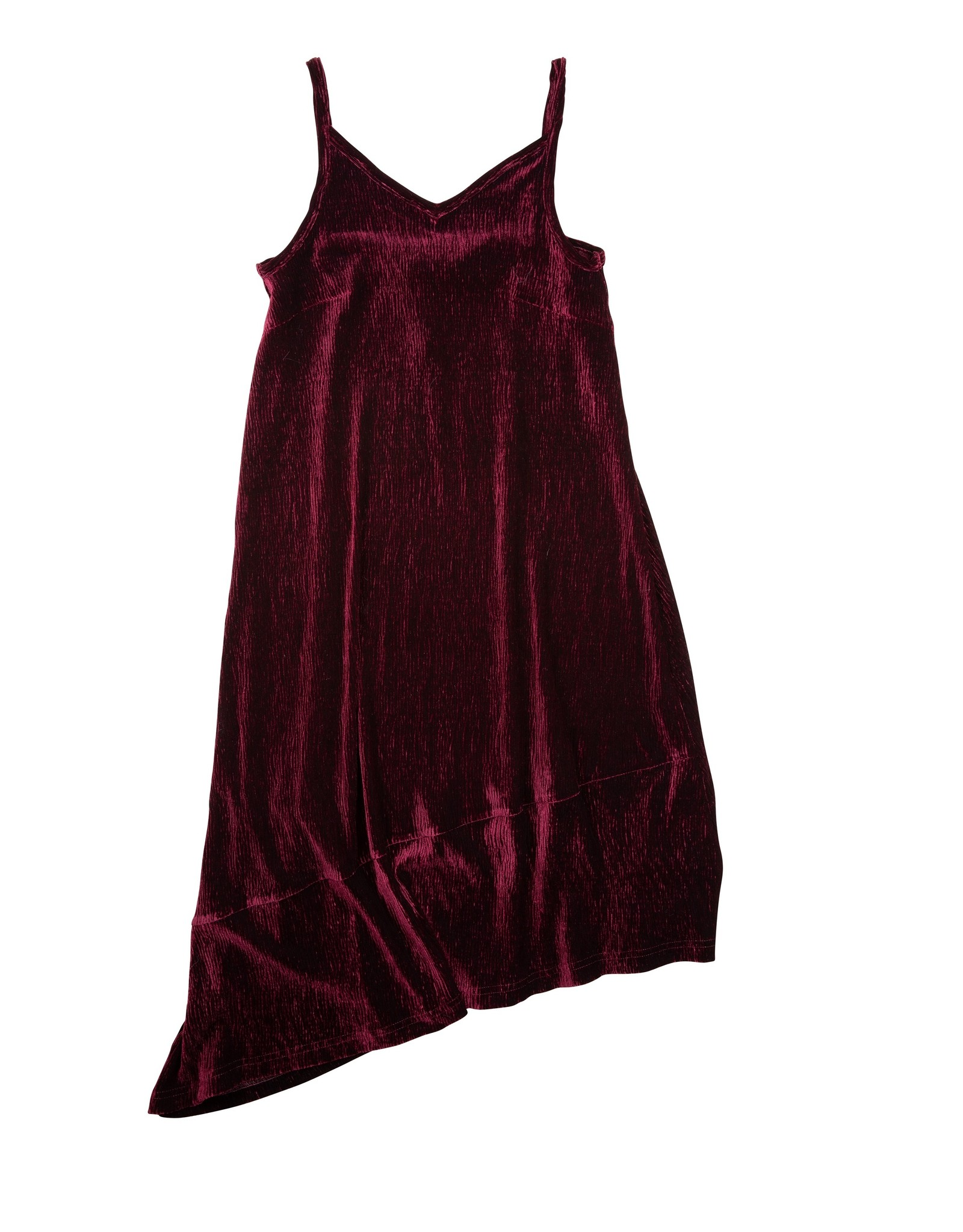UNCLEAR Unclear Velour Asymetrical Slip Dress