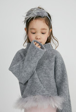 Petite Hailey Petite Hailey Wool Turtleneck with Feather Bottom