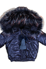 Smile Everyday Smile Everyday Puffer Girls Coat with Faux Fur Trim Hood