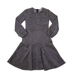 Indigo Indigo Metallic Fit and Flare Dress