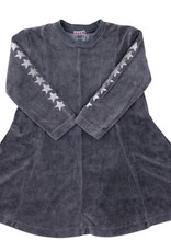 FIVE STAR Five Star Velour Panel Dress with Stars on Sleeves