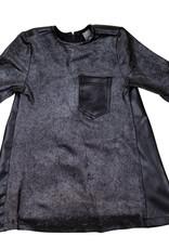 Siccinino Siccinino Pleather Back Dress with Pocket