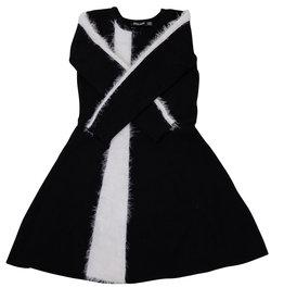 Space Grey Space Grey Knit Dress with Fur Stripe