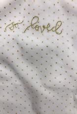 FRAGILE Fragile So Loved Gold Dots Blanket