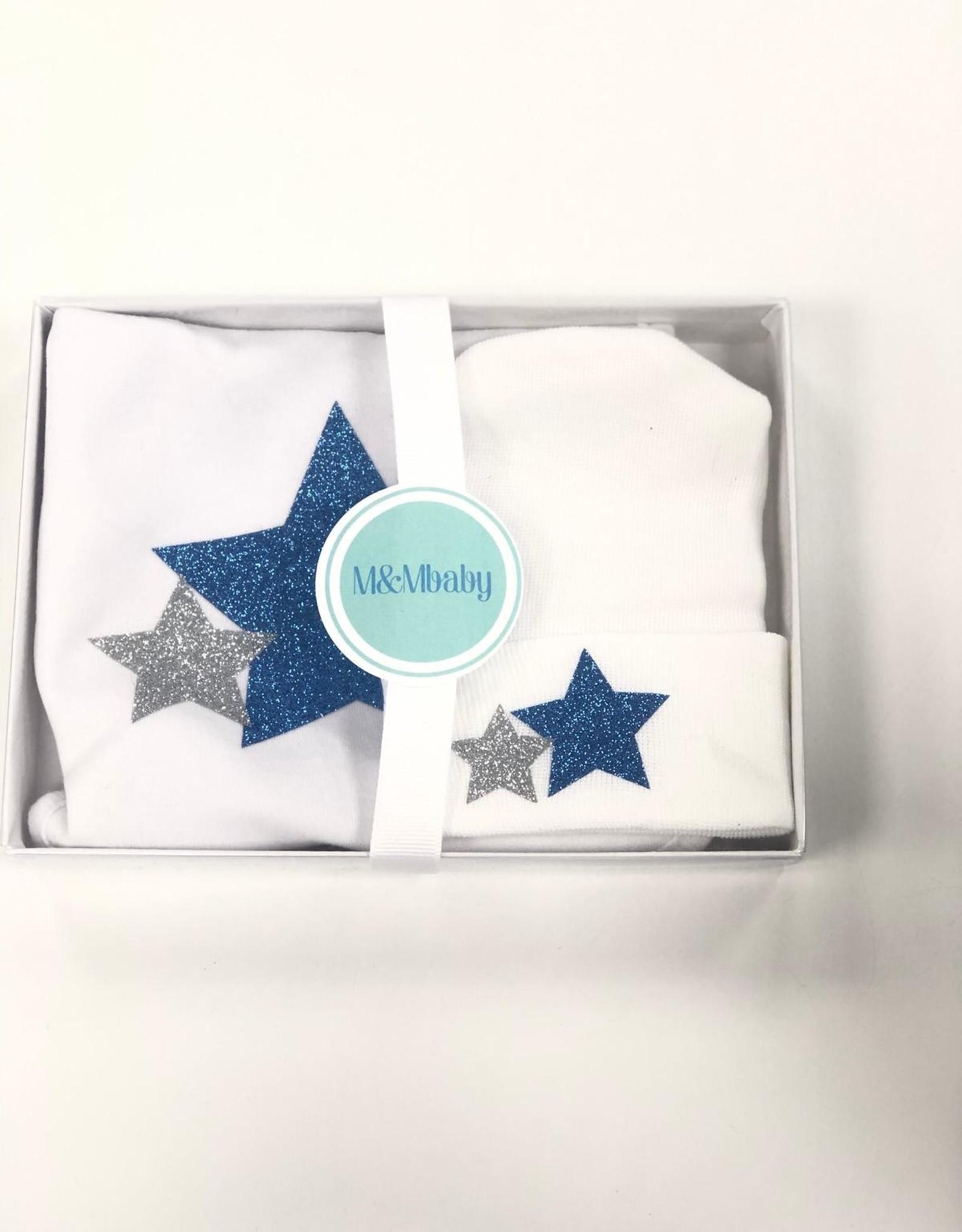 M&M M&M Baby Hat and Bib Gift Set