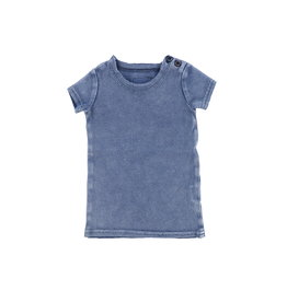 LIL LEGS SS20 Stonewash Short Sleeve Ribbed T-Shirt