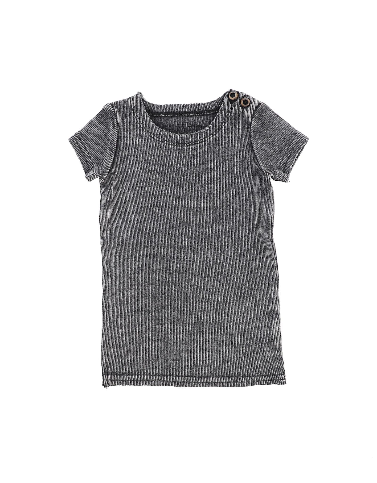 LIL LEGS SS20 Stonewash Short Sleeve Ribbed T-Shirt