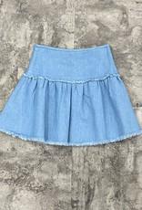 Miss Meme Miss Meme Frayed Edge Skirt