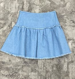 Miss Meme Miss Meme Frayed Edge Skirt
