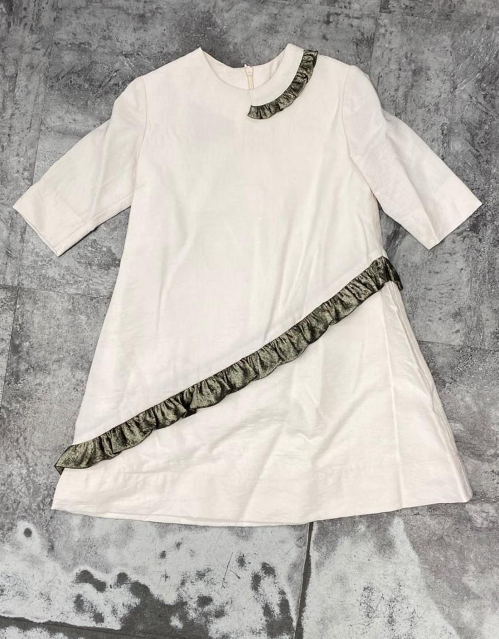 GIRL GIRL Dress with Asymetrical Ruffle