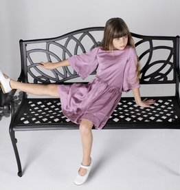 Three Bows Three Bows Asymetrical Waist/Flutter Sleeve Dress