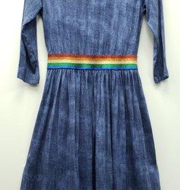 Smile Everyday Smile Everyday Rainbow Elastic Dress
