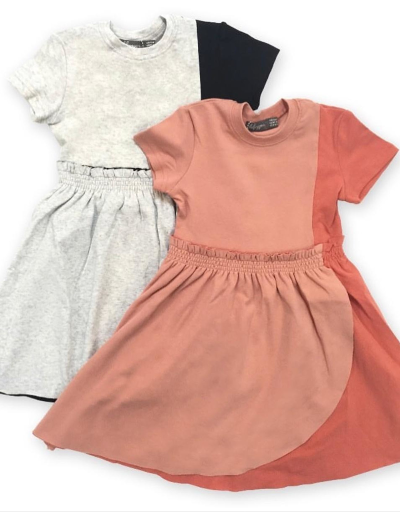 Lil Jogger Lil Jogger Cotton Dress with Faux Wrap