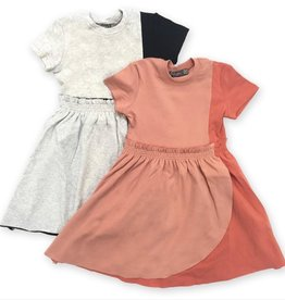 Lil Jogger Lil Jogger Cotton Dress with Faux Wrap