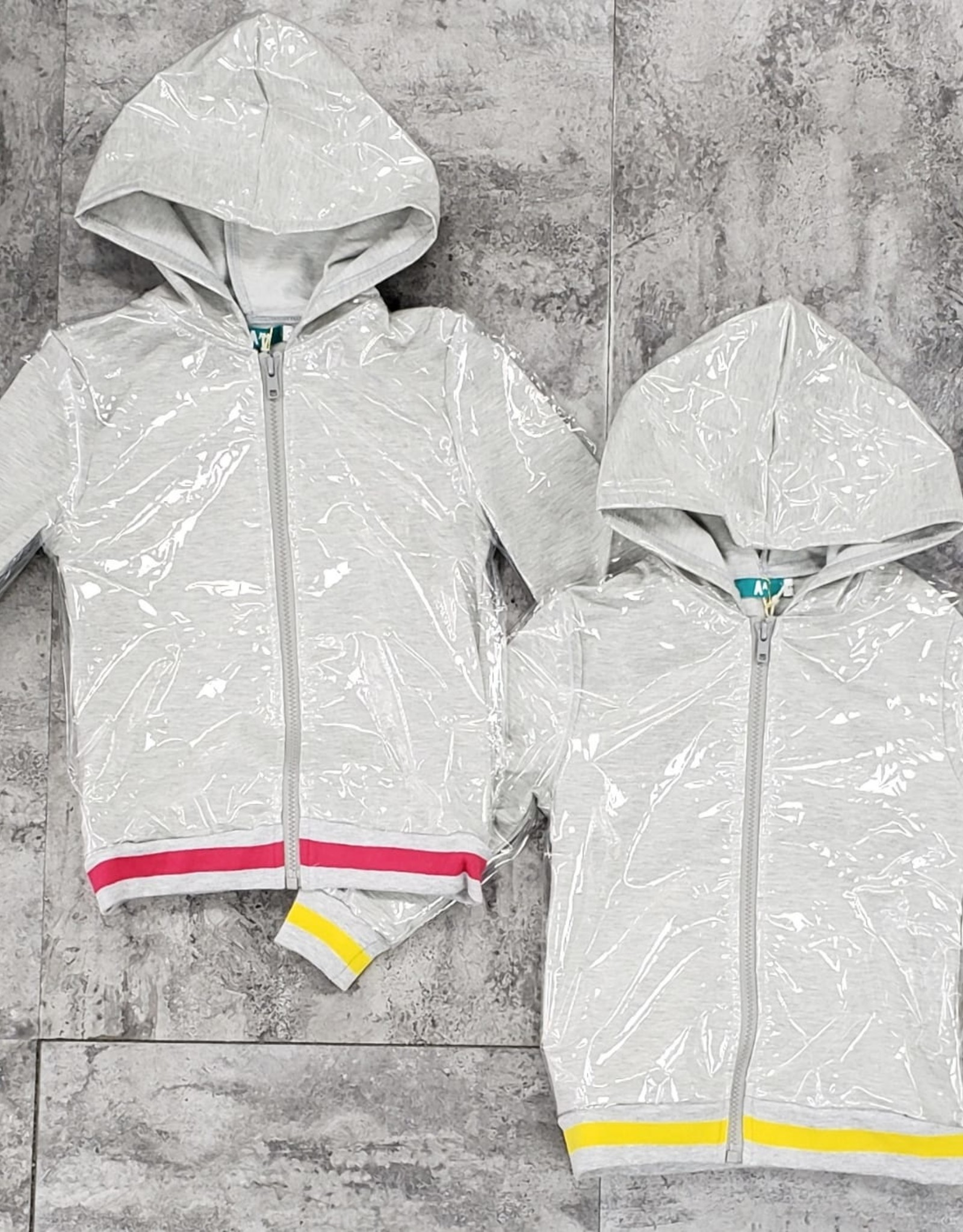 Big A Little a Big A Little a Heather Jacket with Clear Waterproof Cover (with Hood)