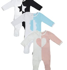 Maniere Maniere Whimsical Shape Two Tone Footie