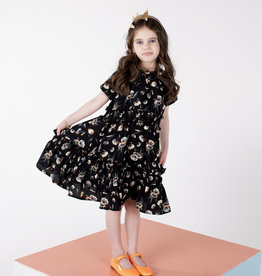 Clo Clo Tiered Floral Dress with Smocked Waist