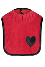 ArGail ArGail Terry Bib with Leather Piping