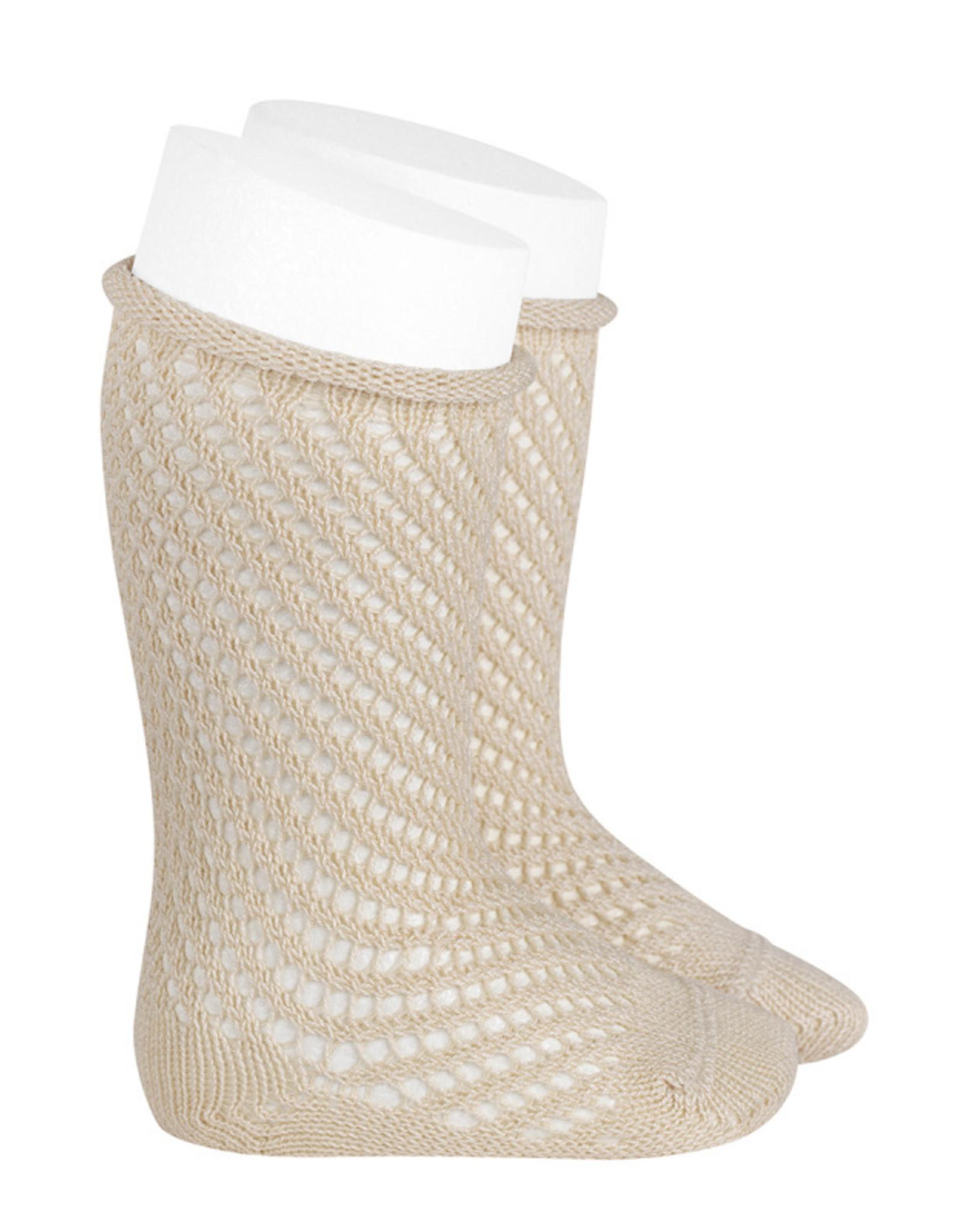 Condor Condor Crochet Knee Sock with Rolled Cuff