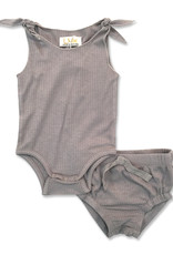 LUX LUX Rib 2 Piece Set with Bow Detail on Shoulder