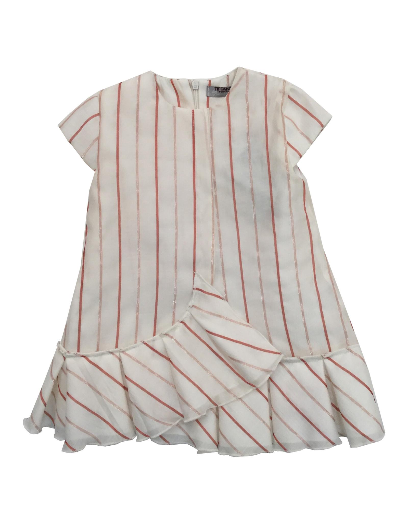 Tiffany Tiffany Striped Faux Wrap Dress