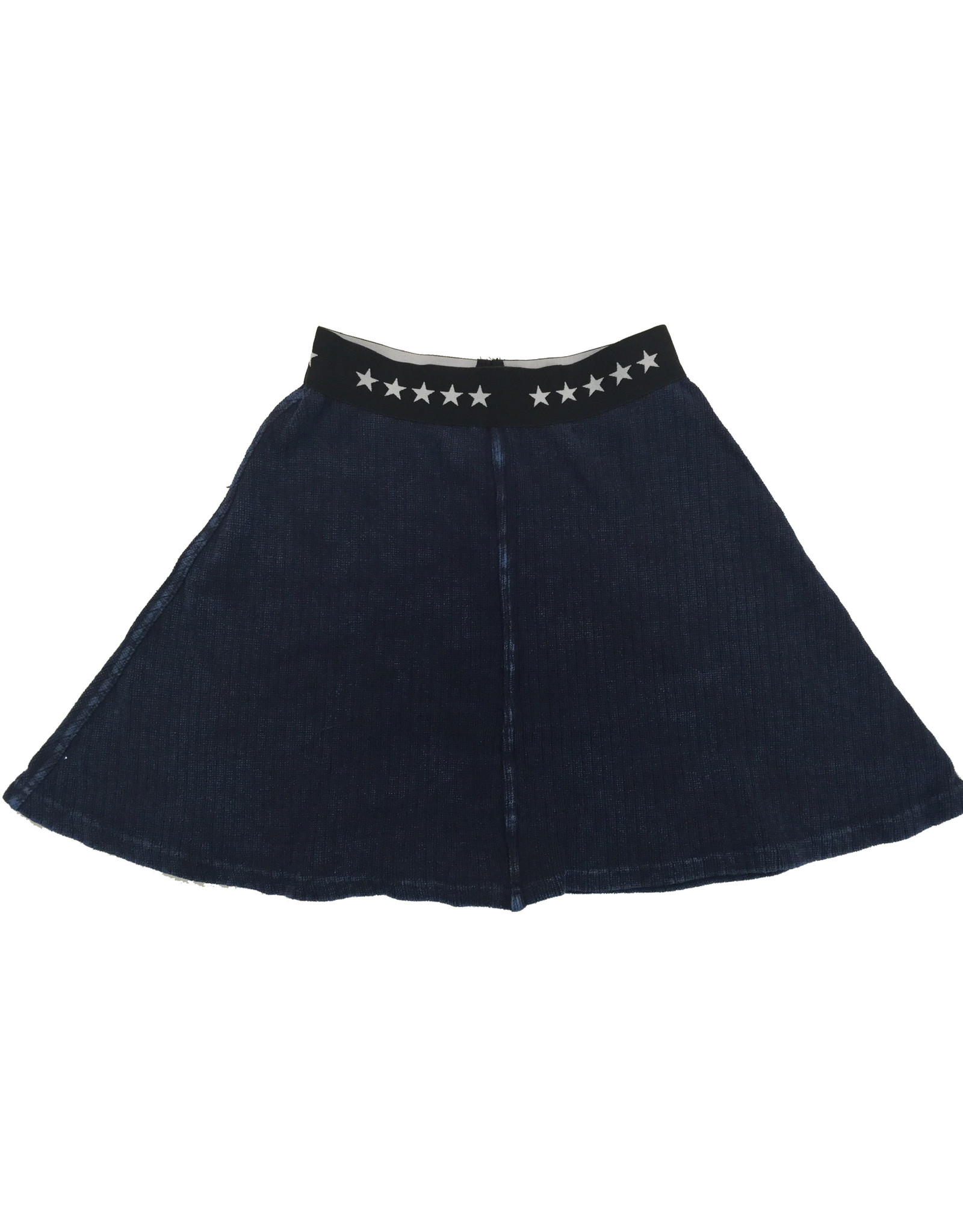 FIVE STAR Five Star Ribbed Flare Skirt with Star Elastic Waistband