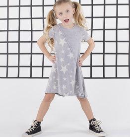FIVE STAR Five Star Star Print Hi Low Dress