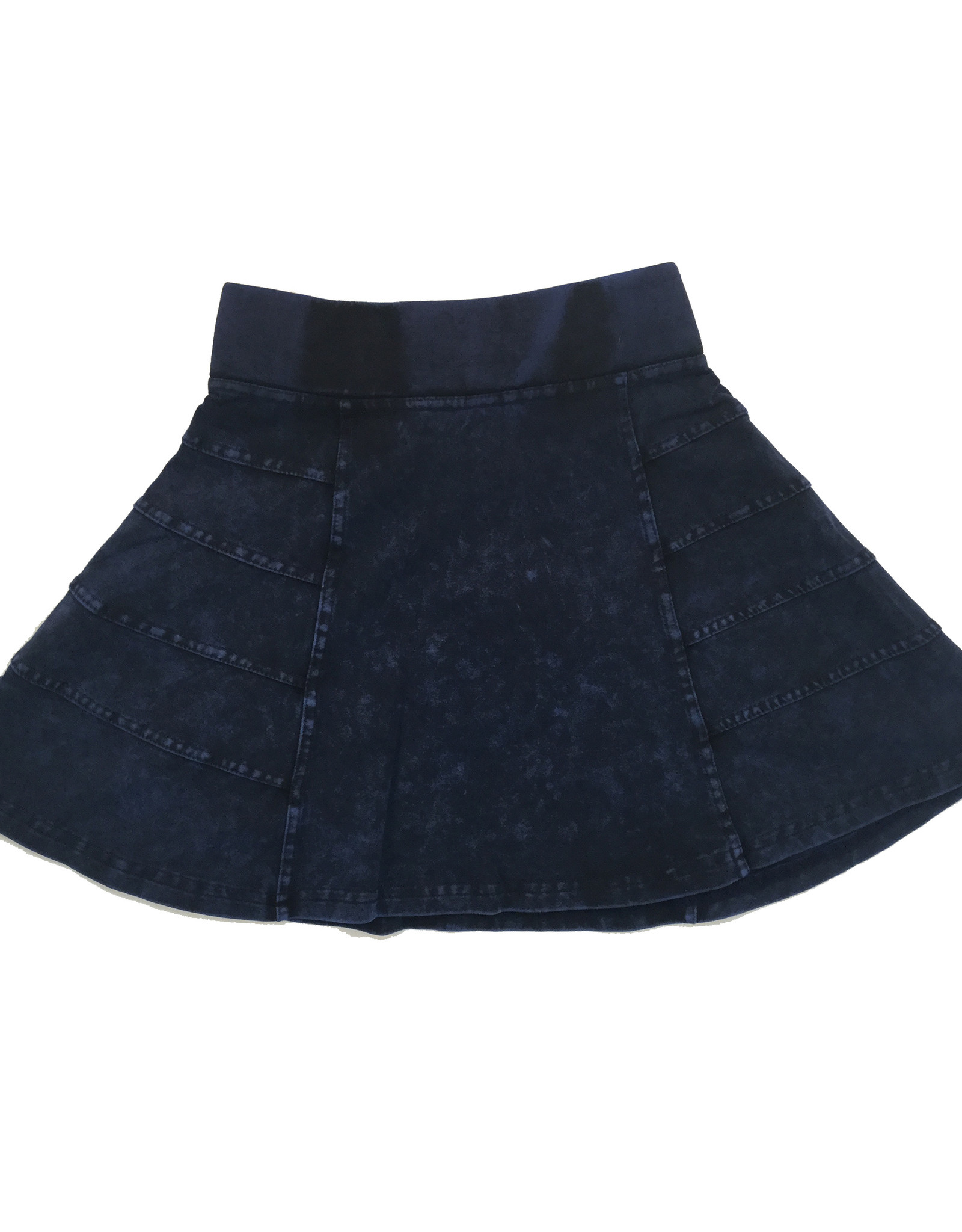 So What So What Denim Wash Skirt with Side Cuts