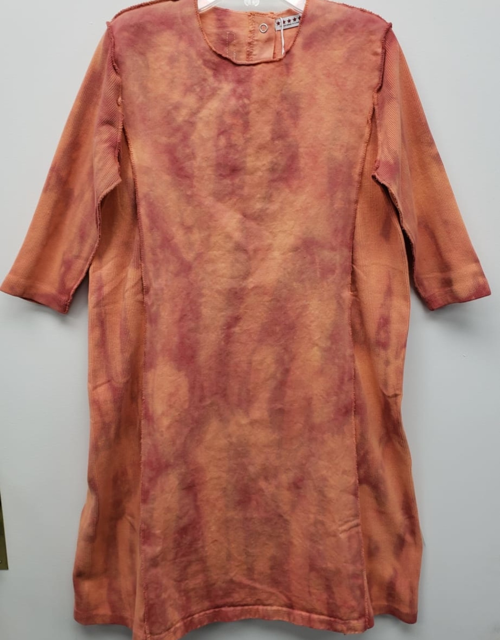 FIVE STAR Five Star Tie Dye Dress with Ribbed Side Panels and Sleeves