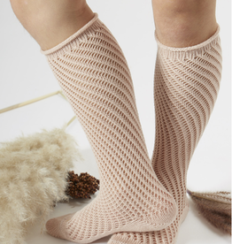 Condor Condor Crochet Knee Sock with Rolled Cuff
