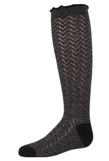 Memoi Memoi Open Work Knee Sock
