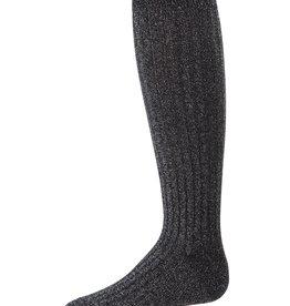Memoi Memoi Ribbed Lurex Knee Sock