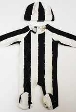Neuf 9 Neuf 9 Vertical Stripe Footie with Hat