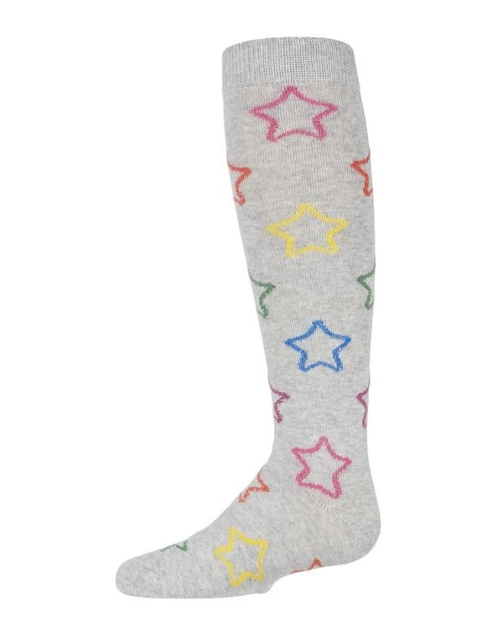 Memoi Memoi Multi Lurex Star Knee Sock