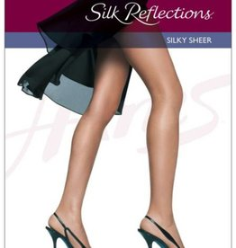 Hanes Silk Reflections 6 Pack Sheer Toe Non CT