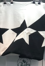 FRAGILE Fragile Colorblock Knit Blanket with Stars