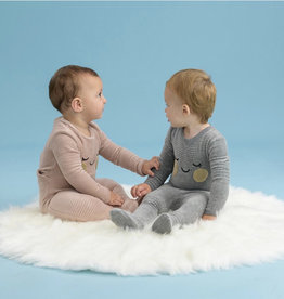 Small Moments Small Moments Ribbed Velour BabyFace Footie