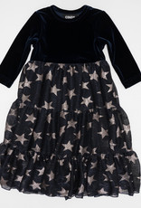 Cindy Cindy Tiered Robe with Star Print