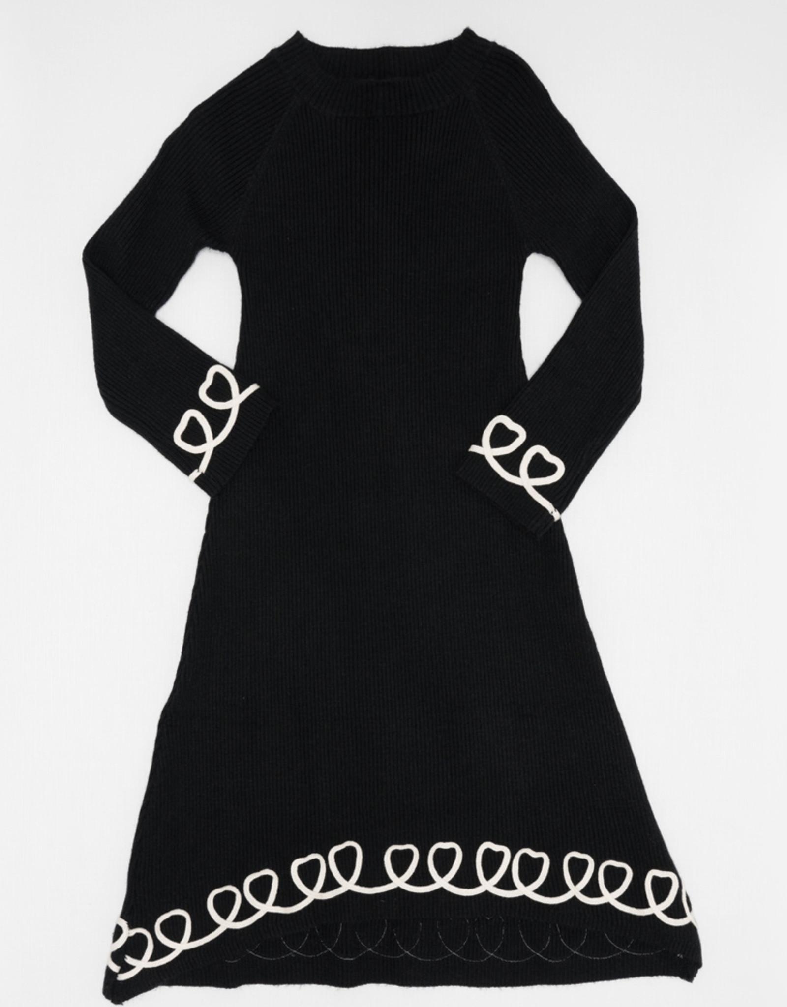 Tiffany Tiffany Rib Dress with Heart Trim
