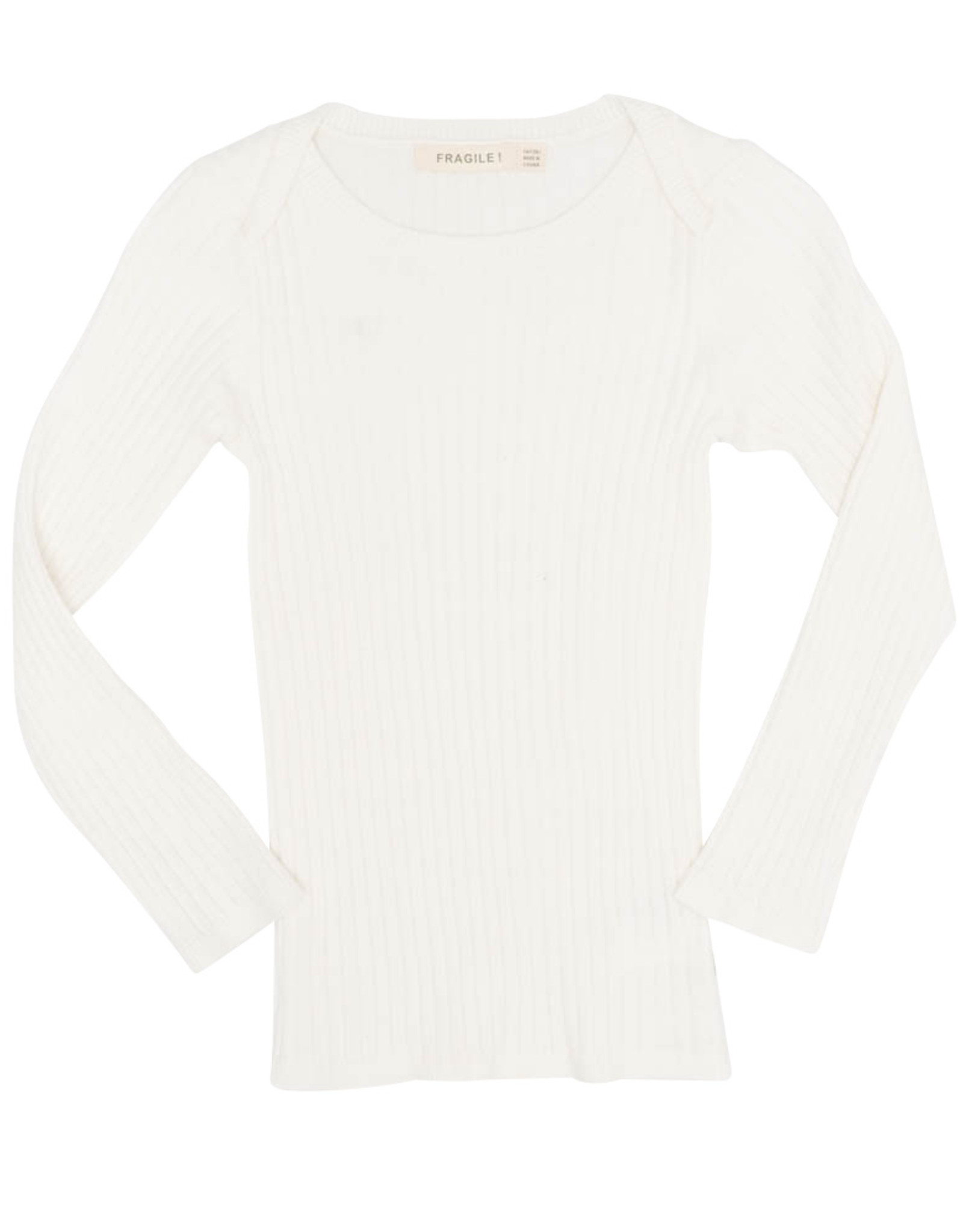 FRAGILE Fragile Ribbed Sweater Top