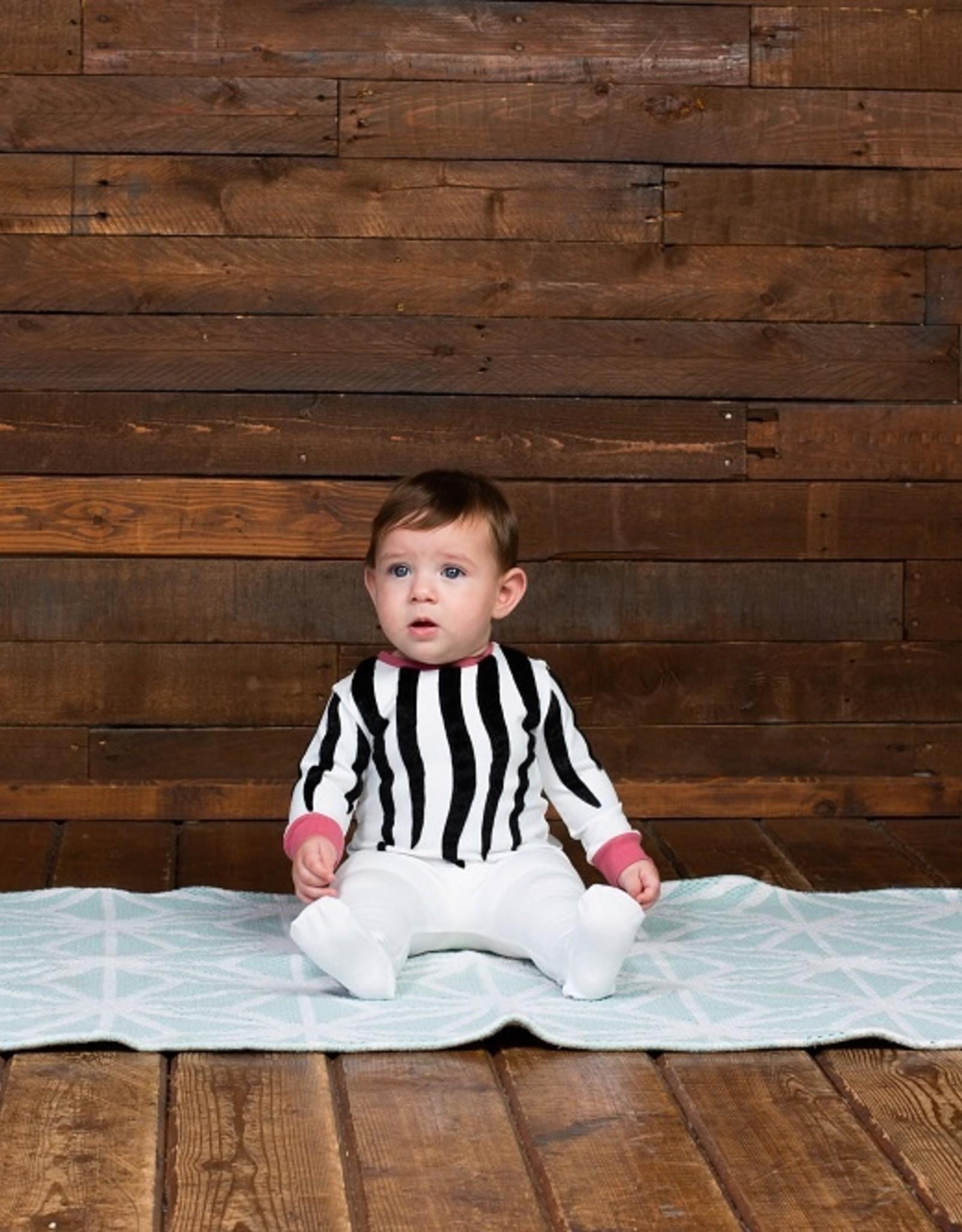 Noggi Noggi Zebra Footie Pajama